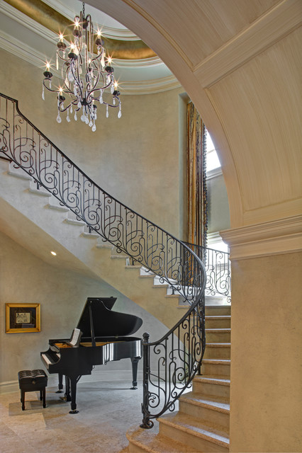 Tuscan Elegance Mediterranean Staircase Dc Metro By Great Falls Distinctive Interiors Inc