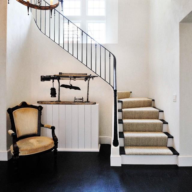 Traditional Metal Railing Staircase Idea In Atlanta