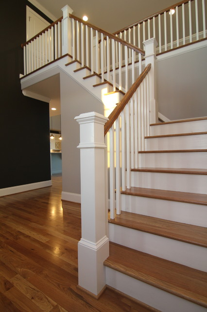 Foyer Stairs For Sale : Two story foyer contemporary staircase raleigh by