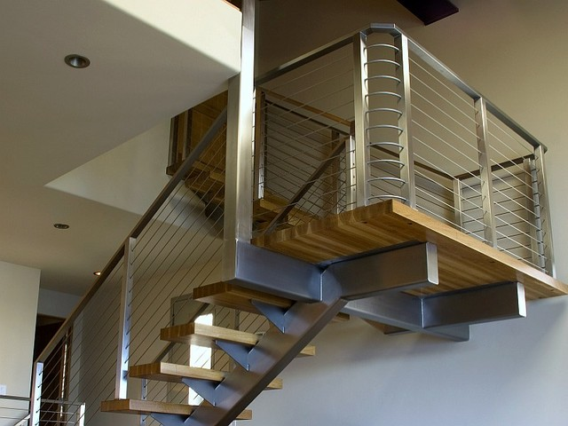 Ultra-tec® stainless steel railing system - Modern - Staircase - by ...