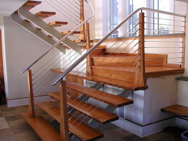 Attrayant Ultra Tec Stainless Steel Railing System Modern Staircase