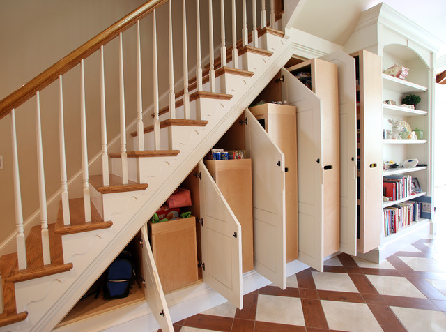 Under-stair Storage - Traditional - Staircase - DC Metro - by Miles Enterprises Inc