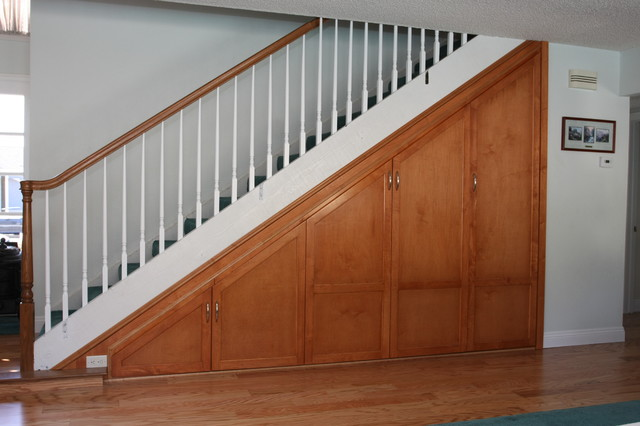 Under Stair Storage Traditional Staircase Orange