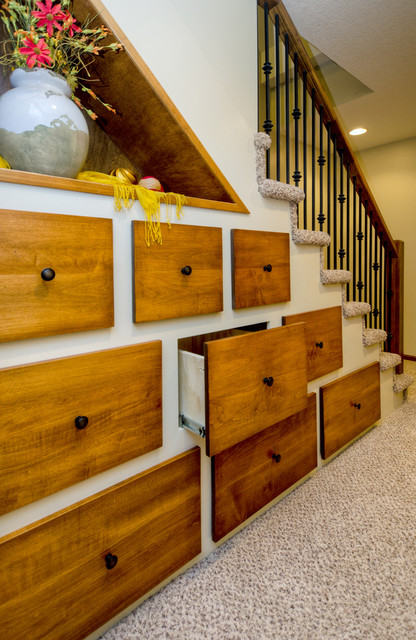 Under Stair Storage traditional-staircase