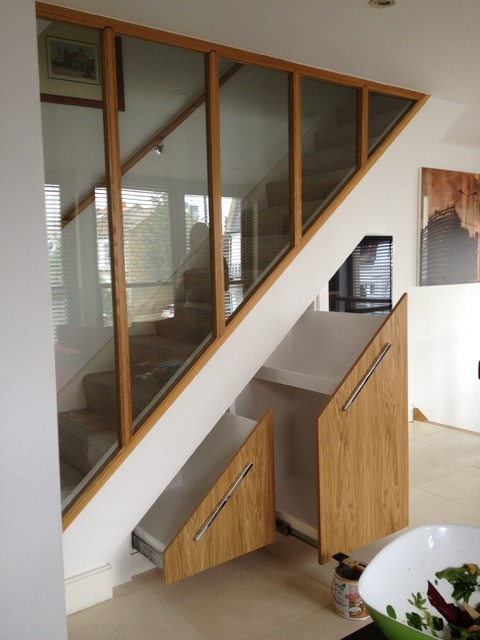 Under Stairs cupboard Contemporary Storage And