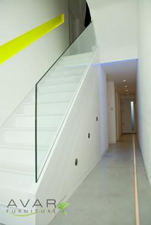 Under Stairs Storage Solution Contemporary Closet