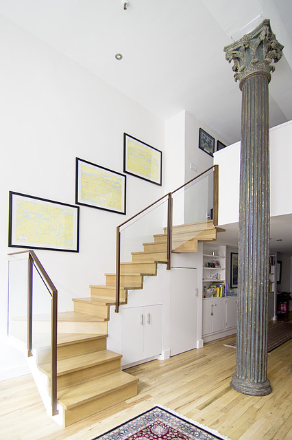 Union Square Apartment contemporary-staircase