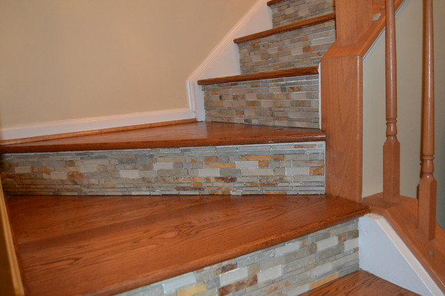 Unique Spaces For Tile Eclectic Staircase Dc Metro