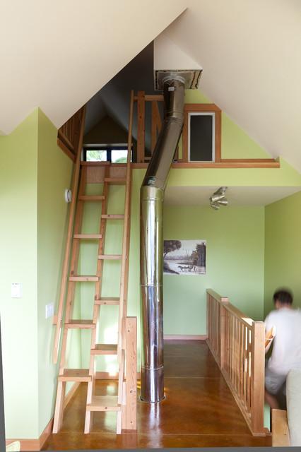 Up To Loft Contemporary Staircase Edmonton By Habitat Studio