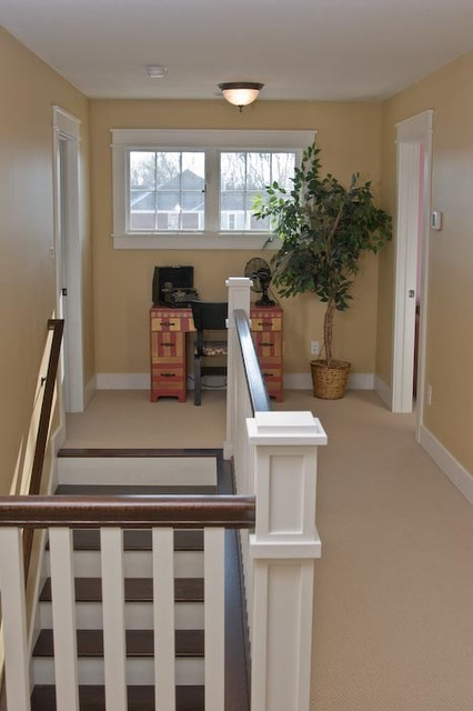 Upstairs Foyer Ideas : Upstairs hallway arts crafts staircase