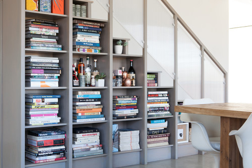 Staircase Shelving clever ways to create staircase storage