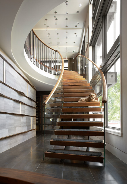 Urban Chic Contemporary Staircase Chicago By
