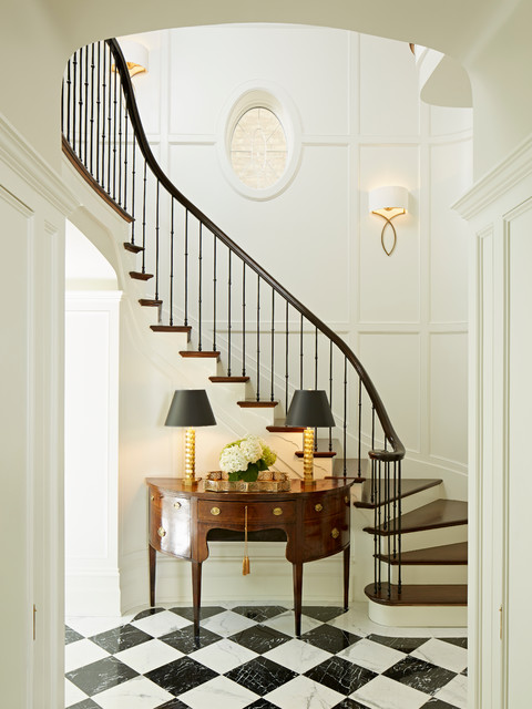 Urban georgian traditional staircase chicago by for Georgian staircase design