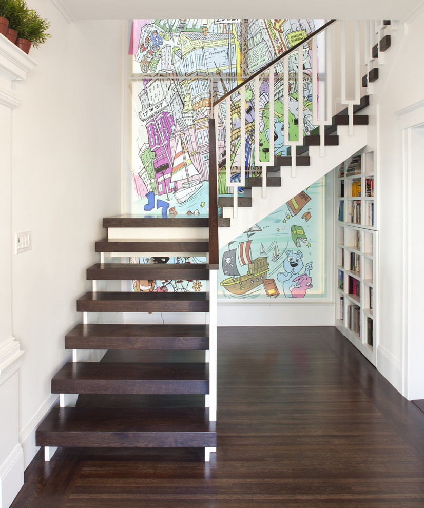 Example of an eclectic staircase design in San Francisco