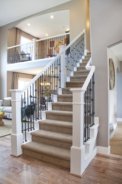 Candlelight Homes Valley View Model - Sun Valley Design traditional staircase