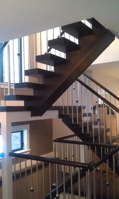 Various Open Riser Staircases Modern Staircase