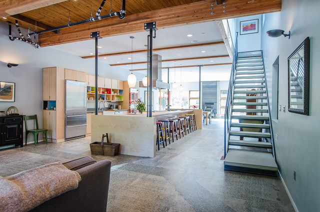 Vashon Barn Conversion Modern Staircase seattle by  : modern staircase from www.houzz.com size 640 x 424 jpeg 103kB