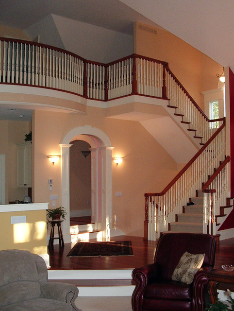 Vaulted Traditional Home traditional-staircase