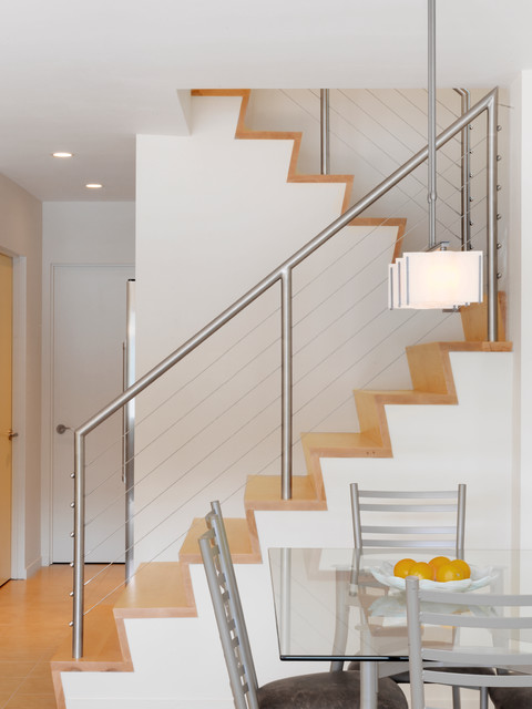 Vermont Lake Home - Contemporary - Staircase - burlington ...