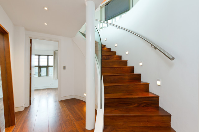 Victor Wharf - Private contemporary-staircase