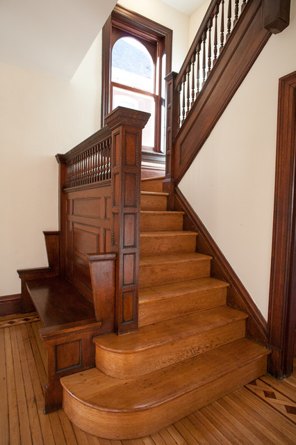 Victorian Foursquare Traditional Staircase St Louis By Rjn Properties Llc