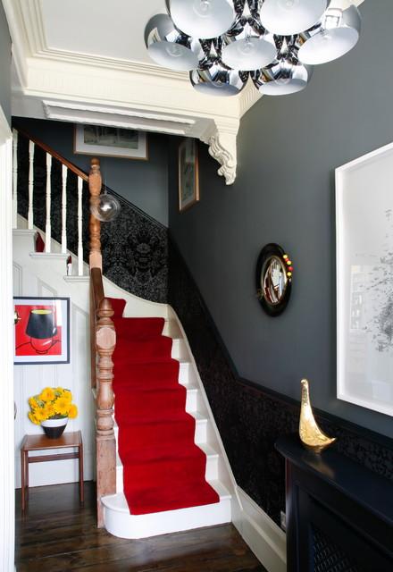 玄关楼梯混搭风格装饰设计图片
