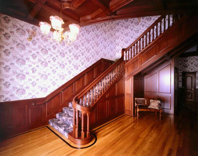 Victorian interior contemporary-staircase
