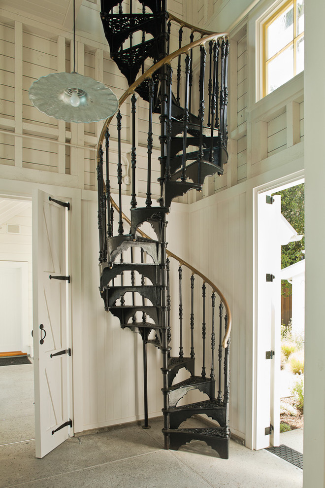 Example of an ornate spiral staircase design in San Francisco