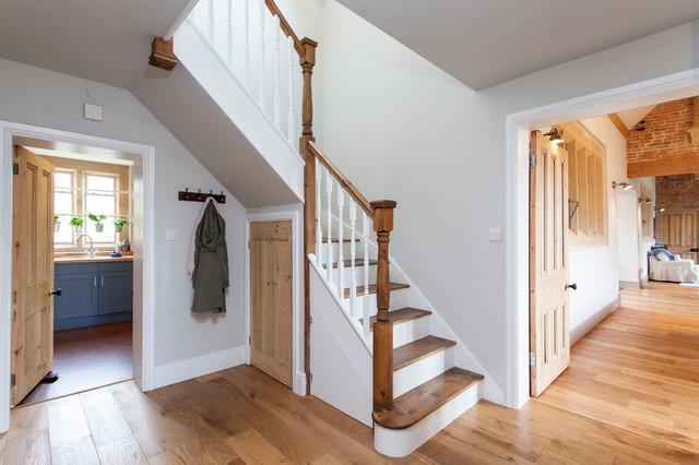 Victorian School House Farmhouse Staircase