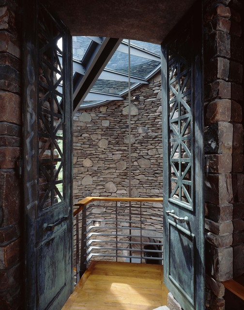 View Into Stair Tower With Skylight