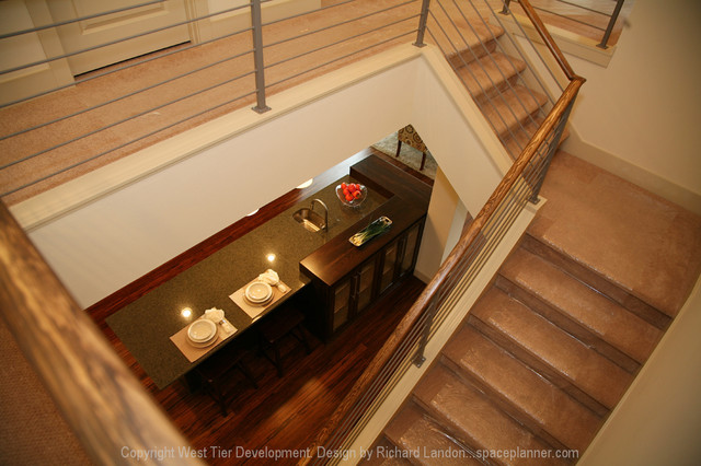 Views Looking Up Lead to Windows Above Cabinets contemporary-staircase