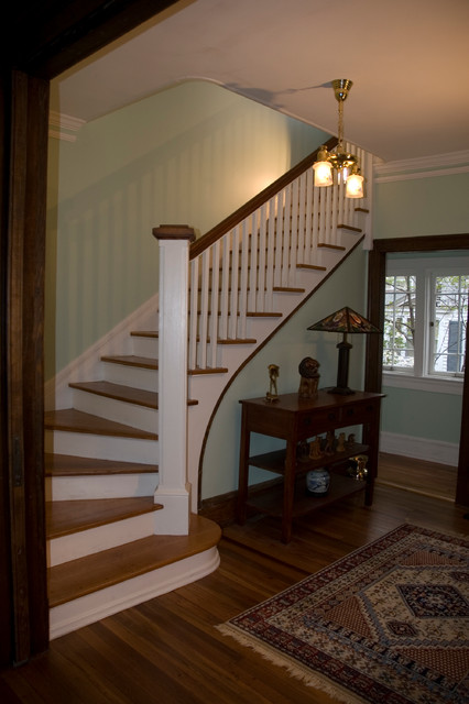 Virginia Street craftsman-staircase