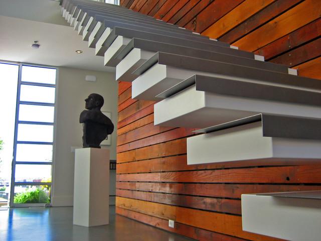 Vivienda Moderna modern-staircase