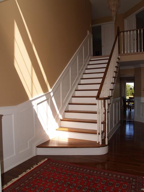 Lighting Basement Washroom Stairs: Wainscot Paneling For Stairs