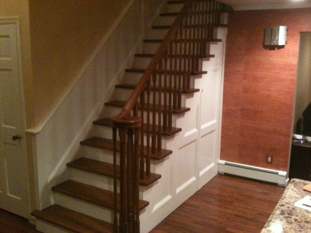 Wainscoting Stairs Traditional Staircase New York