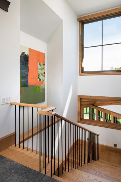 Wainscott Residence beach-style-staircase