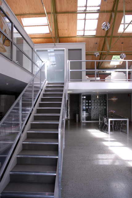 Warehouse conversion industrial-staircase