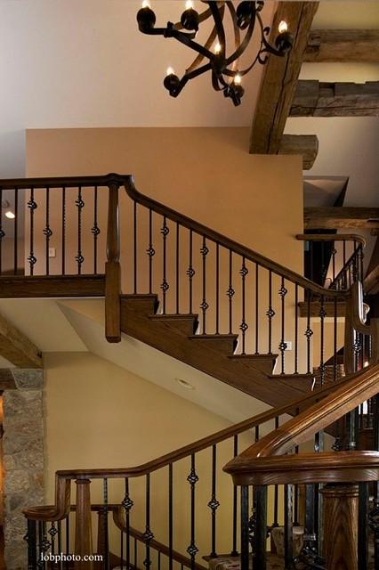 Lake Geneva Custom Home - 1 traditional-staircase