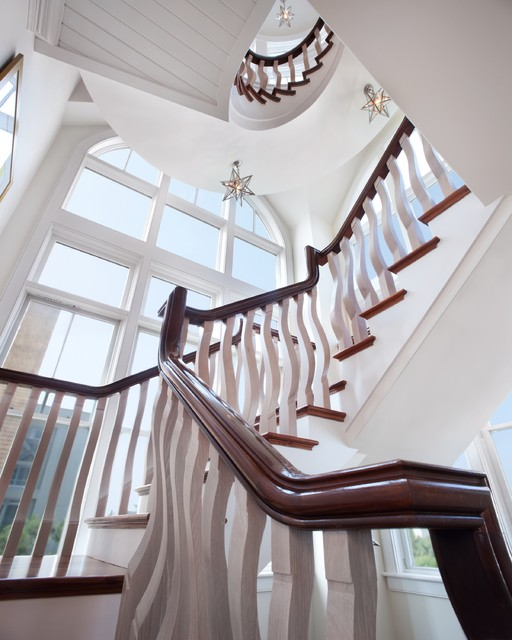 Waterfront Retreat beach-style-staircase