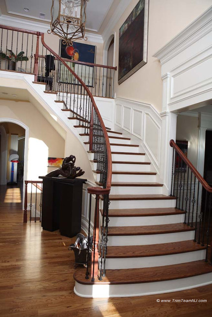 We specialize in moldings installation, crown molding, casing, baseboard, window traditional-staircase