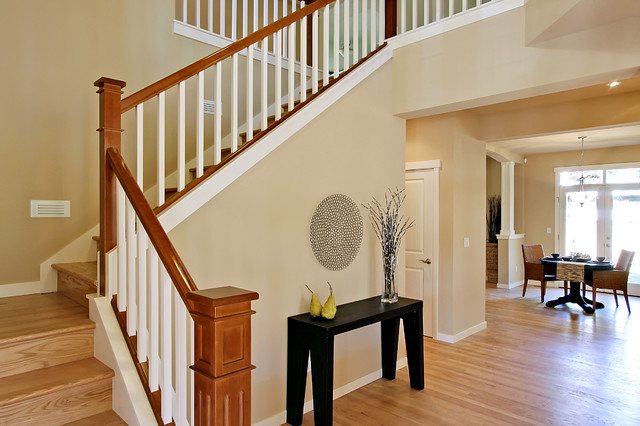 captivating stair living room dining | Wedgewood Staircase and Dining Room - Traditional ...