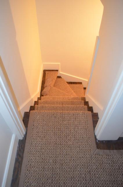 Wellesley Ma Custom Sisal Stair Runner