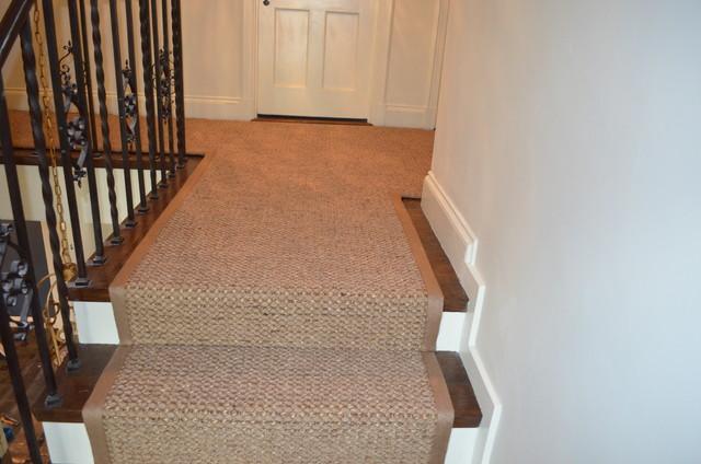 Wellesley Custom Sisal Stair Runner traditional-hall