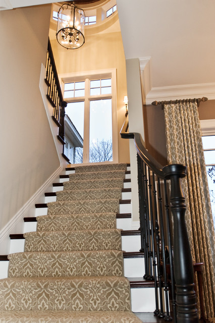 West Arm Cottage traditional-staircase