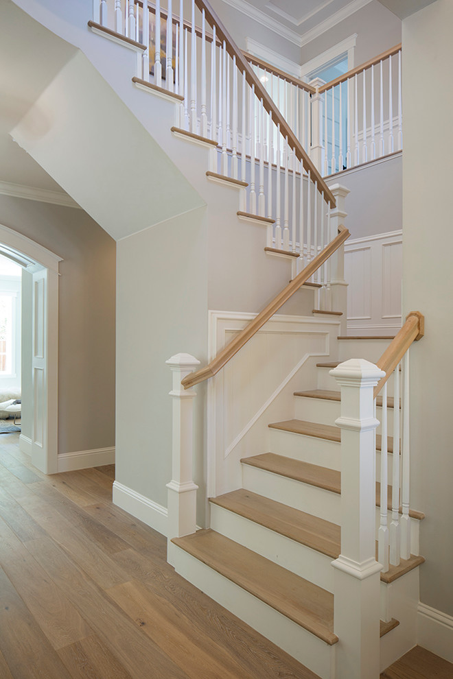 Example of a large transitional staircase design in San Francisco