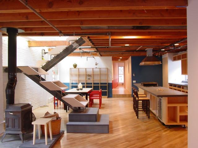 West Village Penthouse Duplex Loft contemporary-staircase