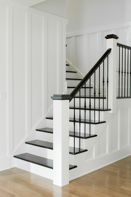 Westport Farmhouse For The Modern Traditionalist Farmhouse Staircase New York By Thiel