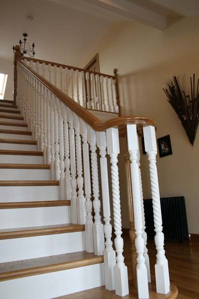 WHITE AND OAK STAIRS - Traditional - Staircase - other metro - by SPINCRAFT LTD