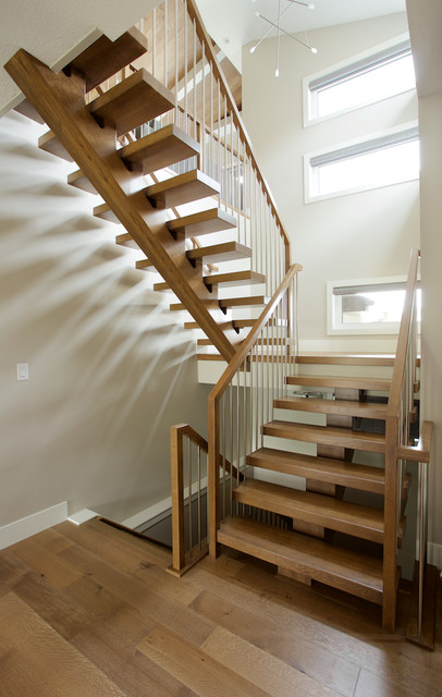 White Oak Mono Stringer With Stainless Steel Spindles