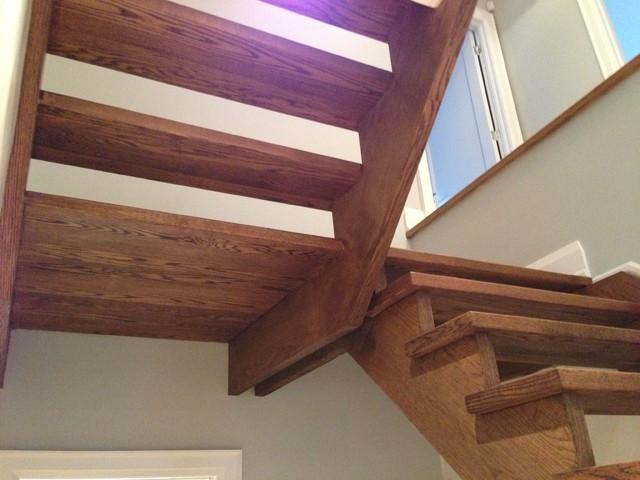 white oak contemporary-staircase